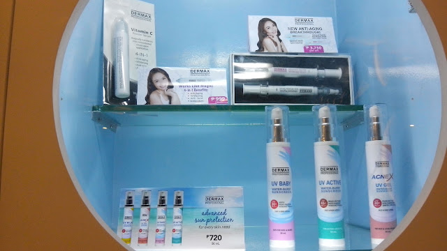 Vitamin C Powder Serum, Advanced Peptide Serum Set, Water Burst sunscreens in UV Baby, UV Active and AcneX.