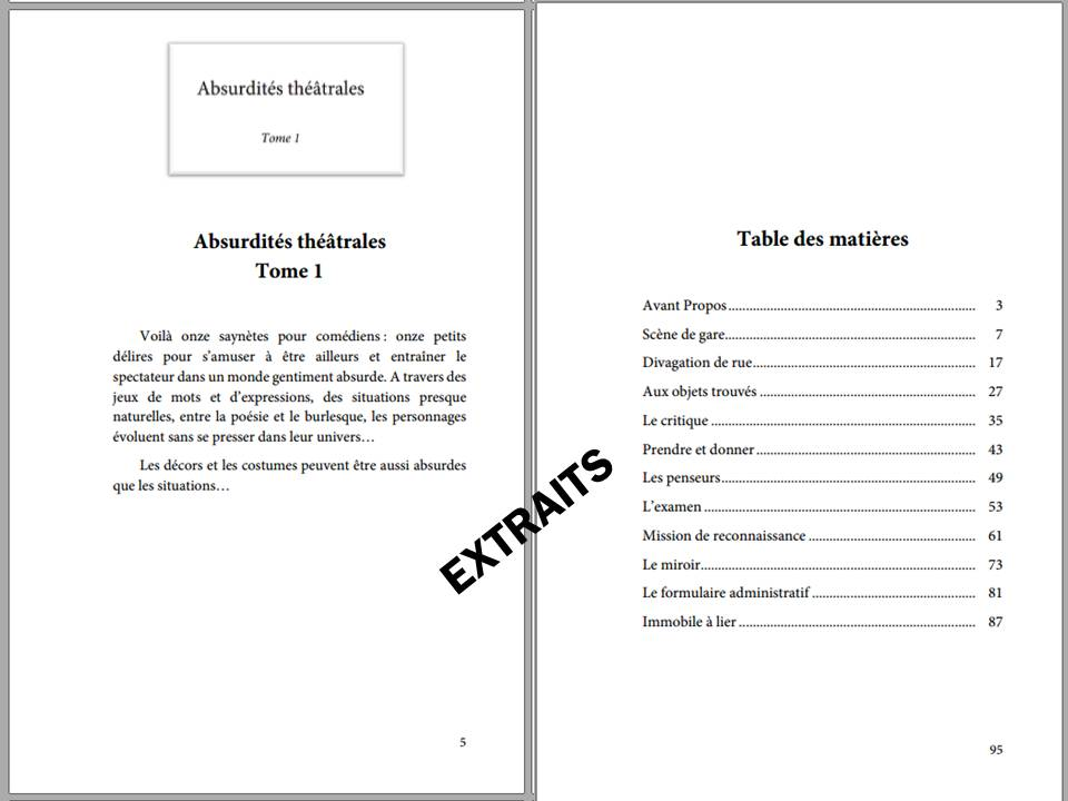 d'arnaudy, théâtre, absurde, abusdités théâtrales, edilivre, ISBN : 9782334109819