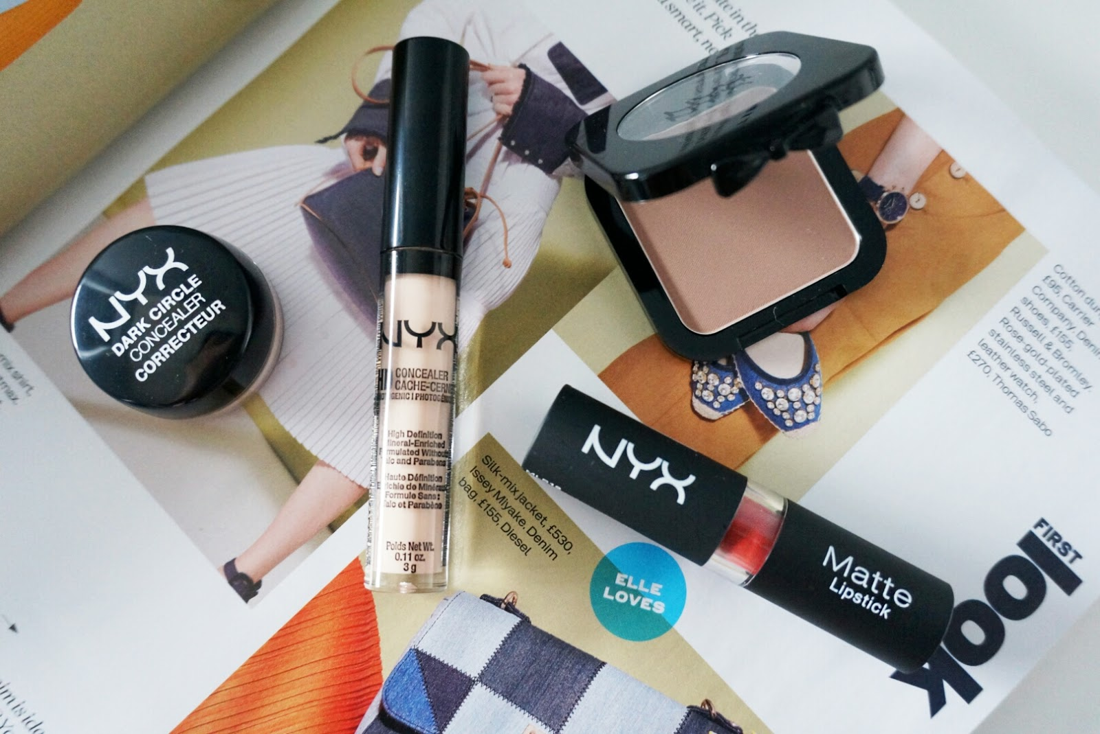 NYX DARK CIRCLE CONCEALER IN FAIR | NYX HD CONCEALER IN FAIR | HD BLUSH IN TAUPE | MATTE LIPSTICK IN SIERRA