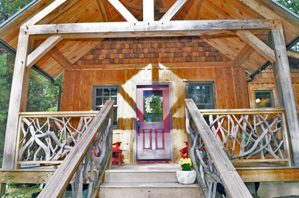 The little living blog timber frame cabin kits for Timber frame cottage kits