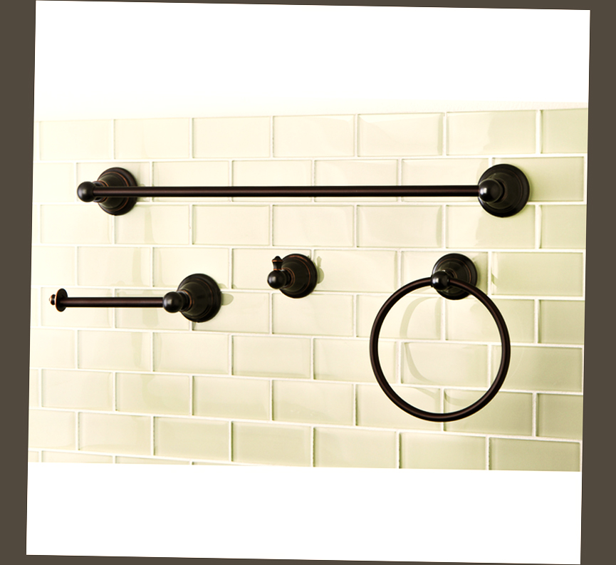 oil rubbed bronze bathroom accessories sets