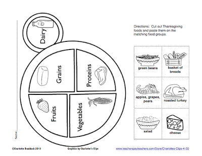 Classroom Freebies: Free Food Group Plate Printable