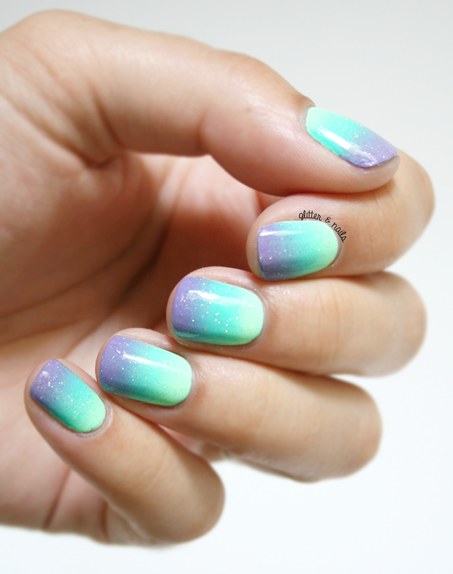 Gradient French Manicure: Glitter And Nails: Acid Gradient