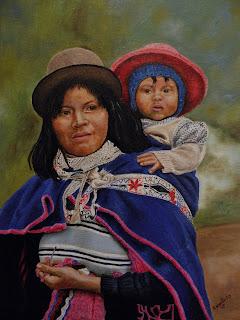 Arte realista, Madre Guambiana y su Hijo, autor Jorge Marín