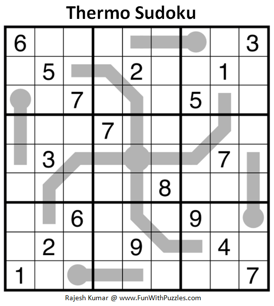 Thermo Sudoku (Daily Sudoku League #186)