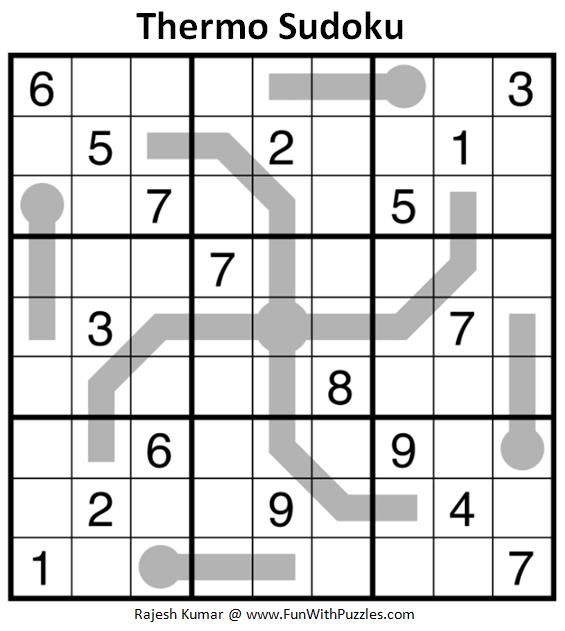 Thermo Sudoku (Daily Sudoku League #186)