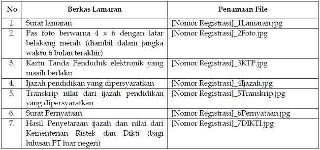 ketentuan pendaftaran cpns bpkp