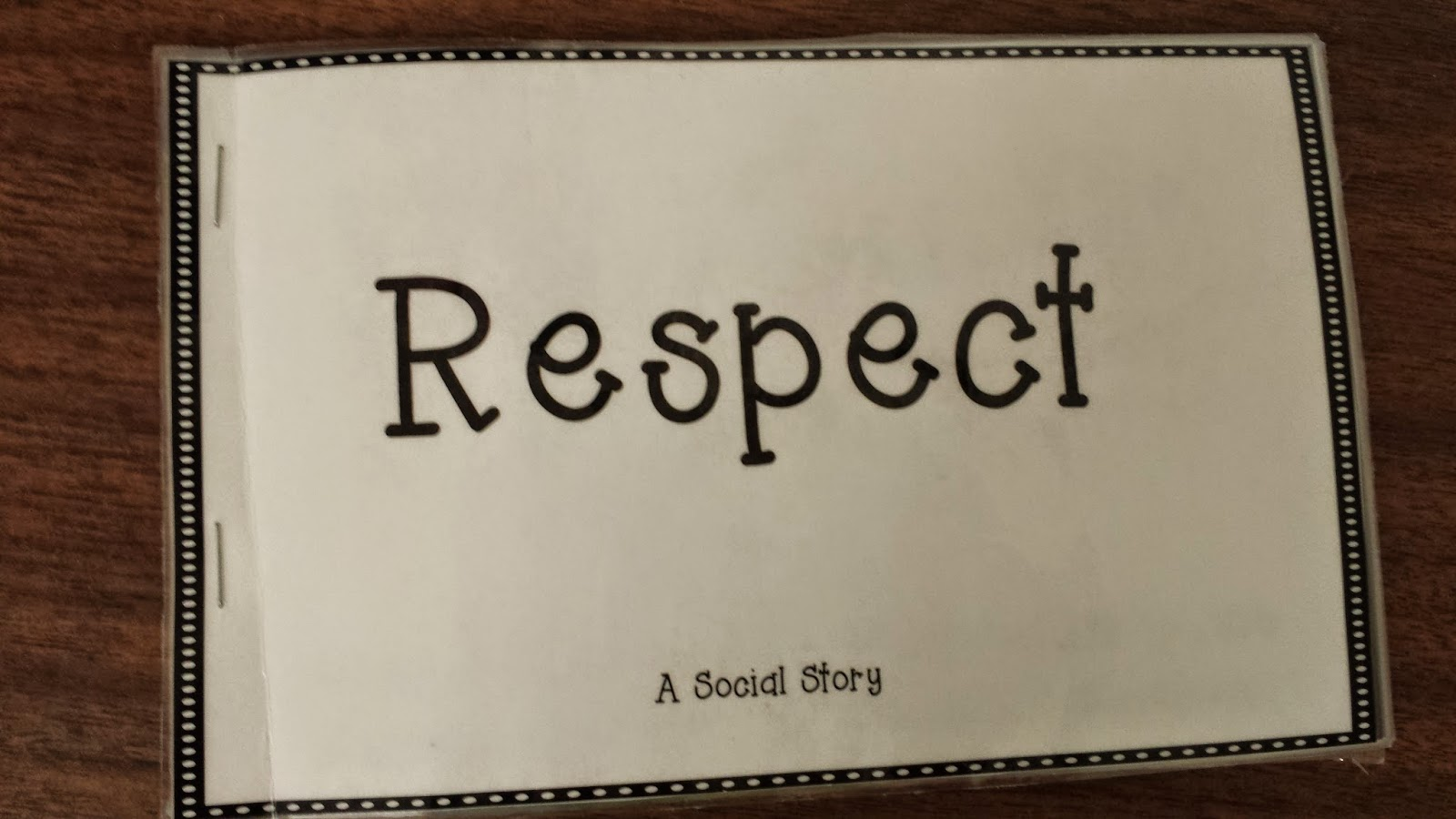 Photo of the cover of the social story about respect.
