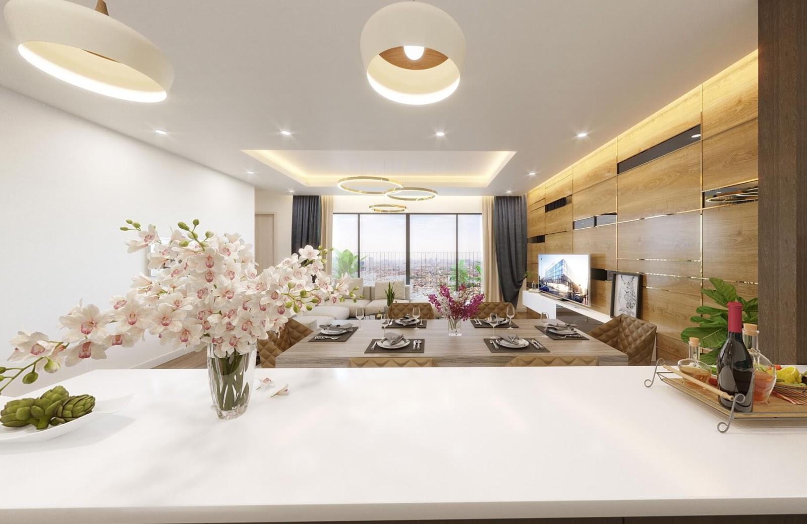 Thiết kế nội thất căn hộ A3 chung cư Amber Riverside