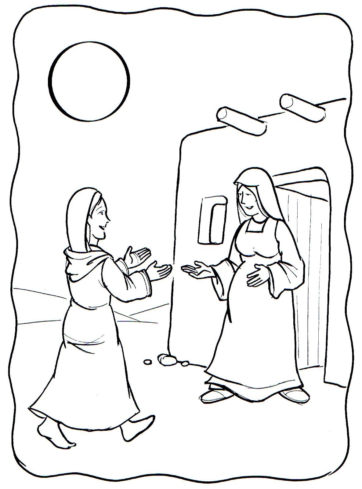 Educar Con Jesus Visitacion Para Colorear 31 De Mayo