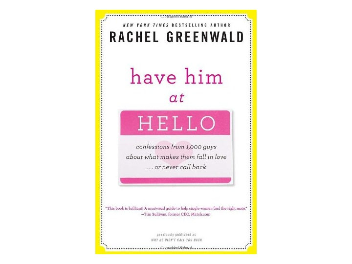 meet greenwald singles Single in stilettos  she has focused her laser vision on singles who  recent guest include new york times best selling authors rachel greenwald and.