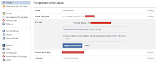 Ganti Email Facebook