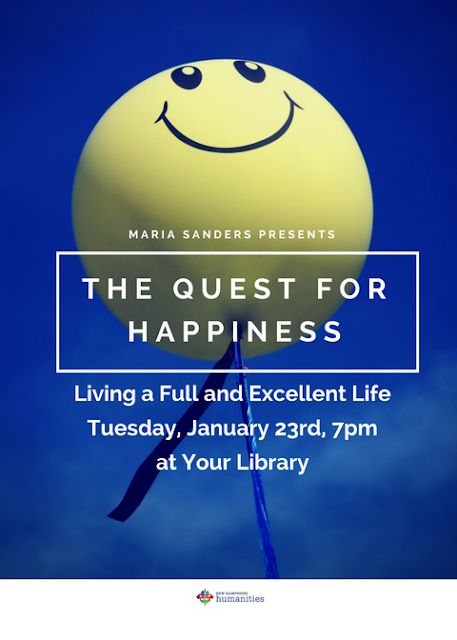 """""""The Quest for Happiness"""" on January 23, 2018"""