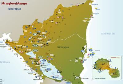 interactive travel tourist map NICARAGUA
