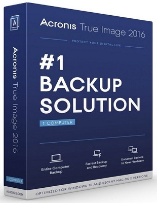 Acronis True Image 2016 19.0 Build 6595 poster box cover
