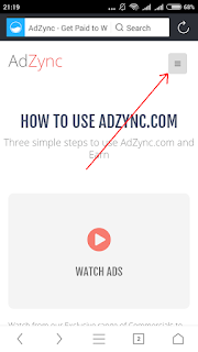 AdZync website registration