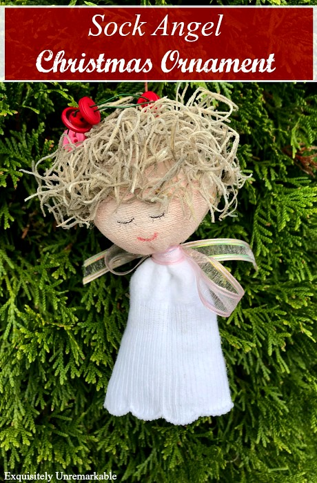 DIY Sock Angel Ornament