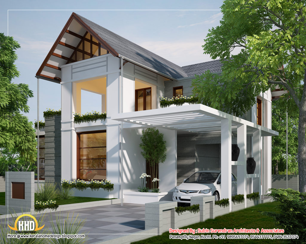 6 awesome dream homes plans kerala home design and floor for Colonial style home design in kerala