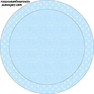 Light Blue with Polka Dots Toppers or Free Printable Candy Bar Labels.