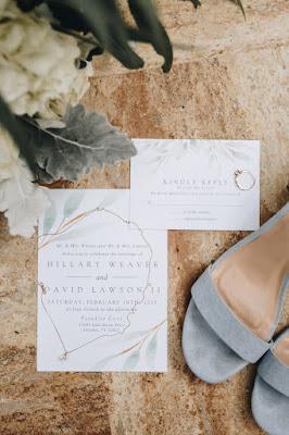 Minimalist wedding invitation and rsvp
