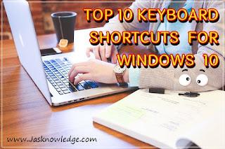 Top 10 Keyboard Shortcuts for Windows 10