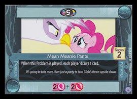My Little Pony Mean Meanie Pants Premiere CCG Card