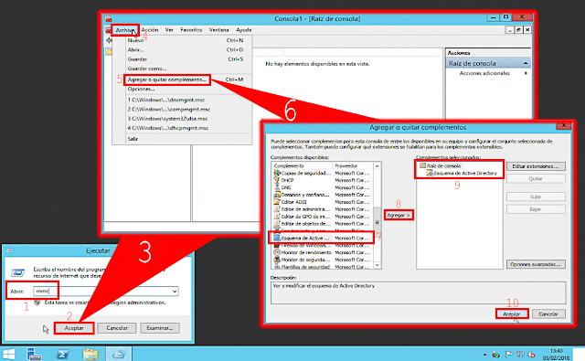 En el menú superior de la consola MMC presionaremos la rama Archivo, y, en le menú desplegable, seleccionaremos la opción Agregar o quitar complemento.