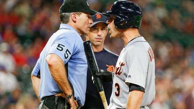 Ambos discutieron cara a cara. El manager de Detroit, Brad Ausmus, fue expulsado también por ingresar al terreno para protestar.