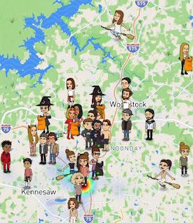 Snapchat Map Halloween Bitmoji Update