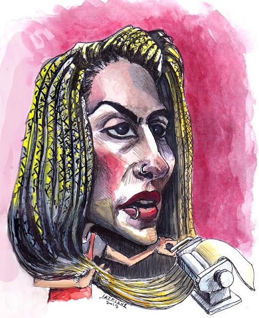 Ηλέκτρα Τσουρουνάκη Καρικατούρα του IaTriDis μετά την  αποχώρηση της από το MasterChefGR.