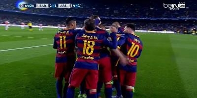 UEFA-16 : Barcelona 3 vs 1 Arsenal 16-03-2016
