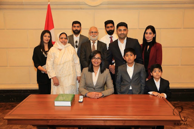 "Iqra Khalid with ""new Canadians"""