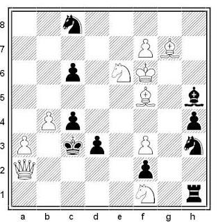 Problema de mate en 2 compuesto por Valery Shanshin (KoBulChess 2015)