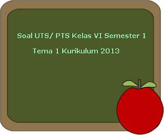 Contoh Soal UTS/ PTS Tema 1 Kelas 6 Semester 1 Kurikulum 2013 Revisi 2018