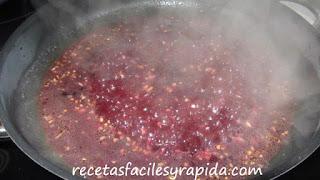salsa de frutos silvestres