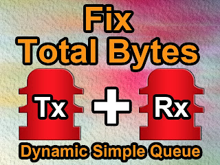 Fix Total Bytes Dynamic Simple Queue Mikrotik
