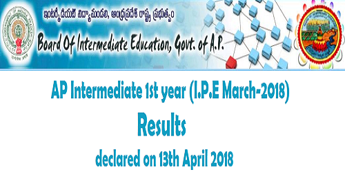 AP inter 1st year (I.P.E March 2018) Results