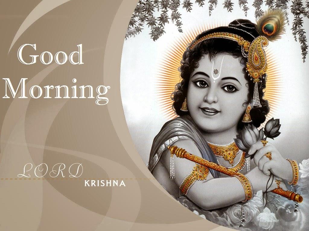 Desktop Wallpaper Stylish Girl Hindu God Krishna Wishes Photo S For Good Morning