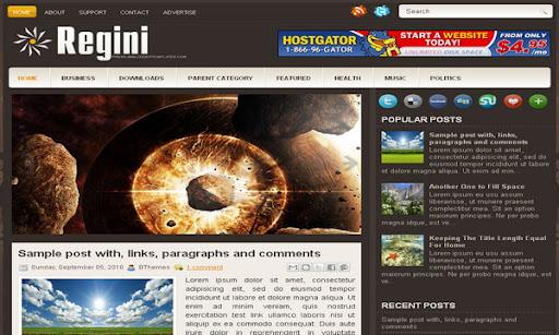 Regini Blogger Template