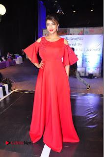 Actress Manchu Lakshmi Pictures in Red Long Dress  0114