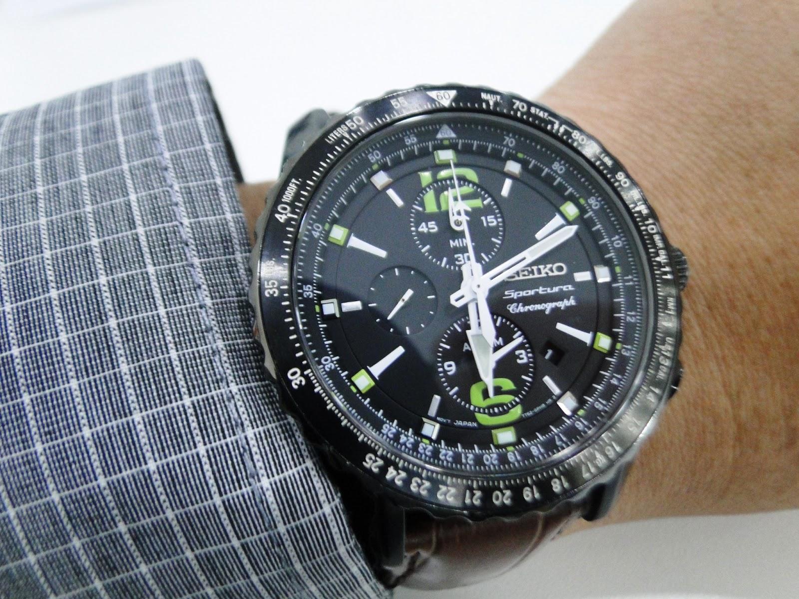 C-segment Wrist Watches: For Sale : Seiko Sportura ...