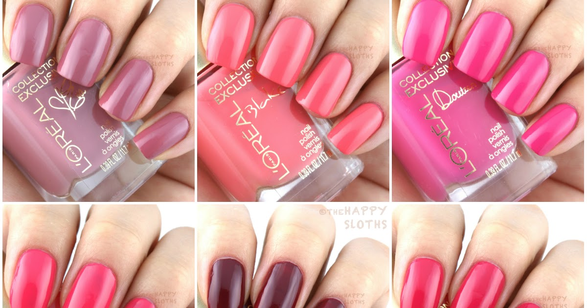 L'Oreal Collection Exclusive Pinks Collection Nail Polish ...