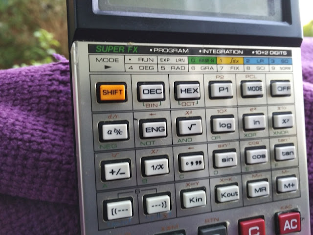A 20-year Old CASIO FX-180PV Programmable Scientific Calculator From