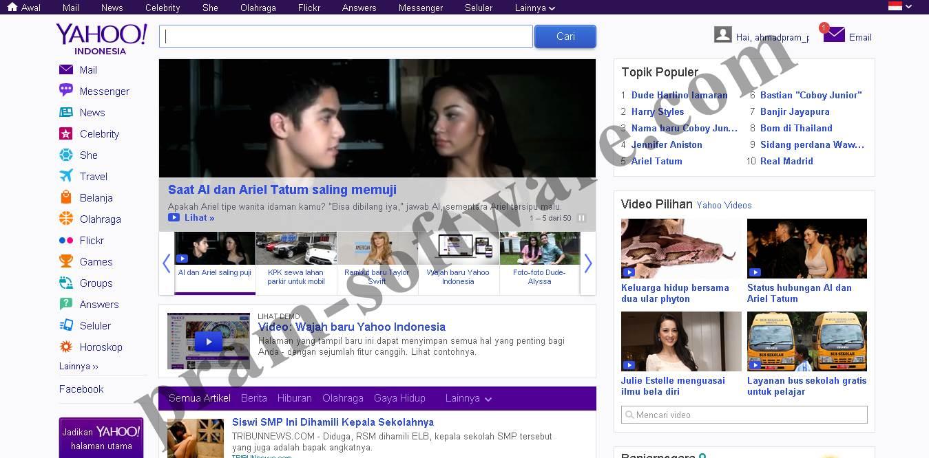 Tampilan Baru Yahoo Indonesia