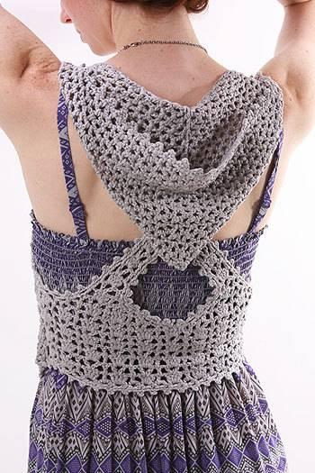 Patron Crochet Chaleco Dibujo Espalda