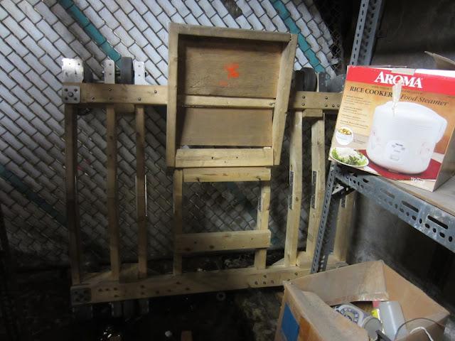wooden cart minus bucket seat