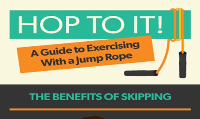 Hop to it! A Guide to Exercising With a Jump Rope #infographic