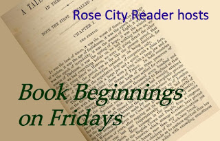 blog event button for Book Beginnings on Fridays on Rose City Reader