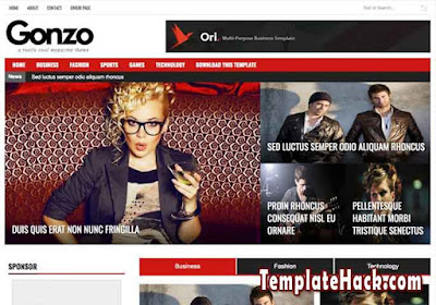 news gonzo blogger template