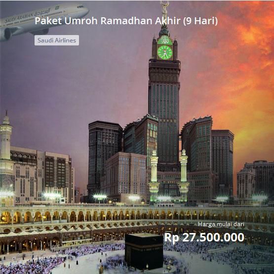 Paket Umroh Ramadhan Akhir 2017